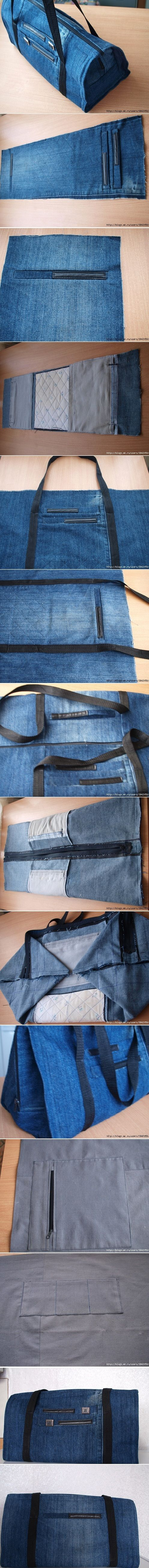 DIY Handbag Jeans
