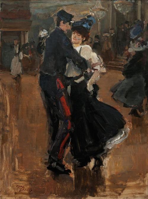 Isaac Israels, Dansend Paar in Moulin De La Galette, Parijs.