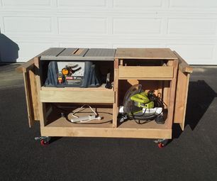 Serra de mesa e carrinho de serra de esquadria
