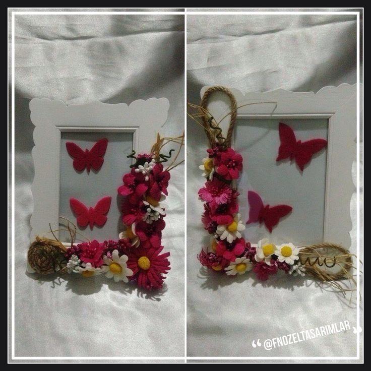 Ipek Kozası Çiçekli Resim Çerçeveleri