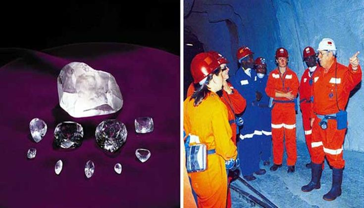 Cullinan Diamond and Underground Mine Tour in Cullinan. A town near Johannesburg, South Africa. You get to go underground with a mine worker. It is awesome. This is a working mine.