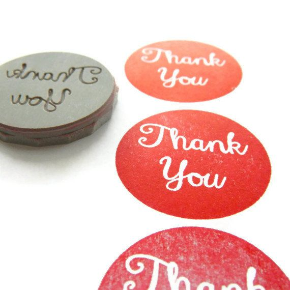 NEW Thank You Circle Stamp - Cling Rubber Stamp | Creatiate
