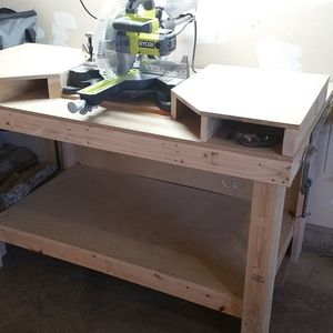 Check out this project on RYOBI Nation - Bought a new Ryobi Miter Saw, wanted something nice for it to go on. My first project with it is the table it sits on. Perfect for my wood working.
