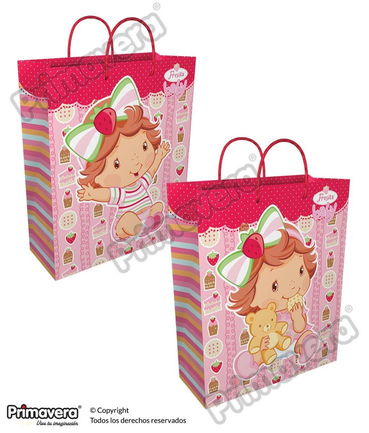 Bolsa Regalo Premium Fresita Baby http://envoltura.papelesprimavera.com/product/bolsa-regalo-personajes-nina-premium-fresita-2/