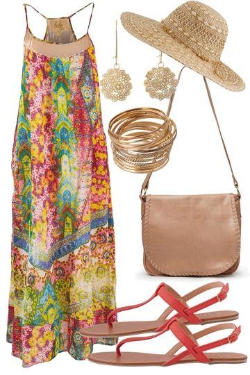 Sunset Beach Outfit includes boho bird, Billini, and Barefoot Gypsy - Birdsnest Online Shop