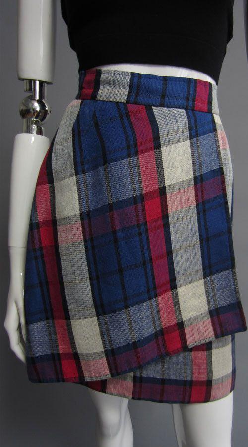 VALENTINO Plaid Skirt
