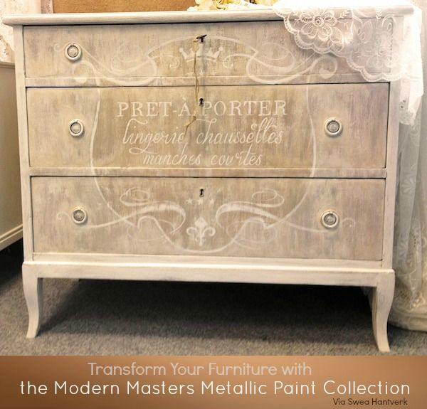 Transform Furniture With Modern Masters Metallic Paint..must Try!