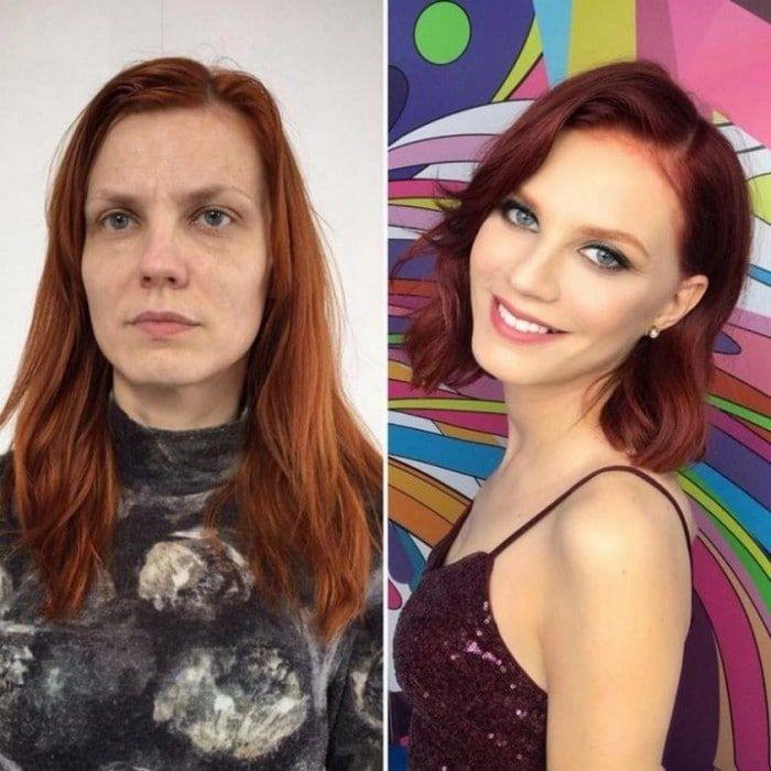 23 Vor und nach Fotos, die die Kraft des Schminkens zeigen – FunRare   – Cute haircut
