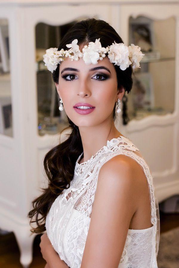Coroa de flores para noivas criada pela Graciella Starling Foto: Fabia Nunes fotografia