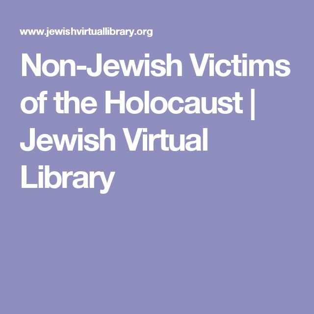 Non-Jewish Victims of the Holocaust | Jewish Virtual Library