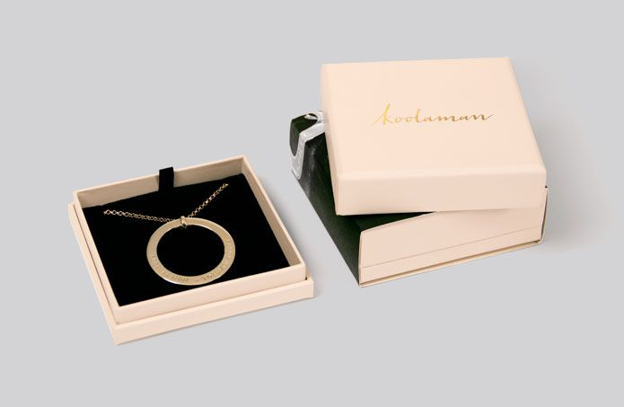 New packaging for Koolaman, iconic hand-stamped jewellery brand. Created by Truly Deeply.