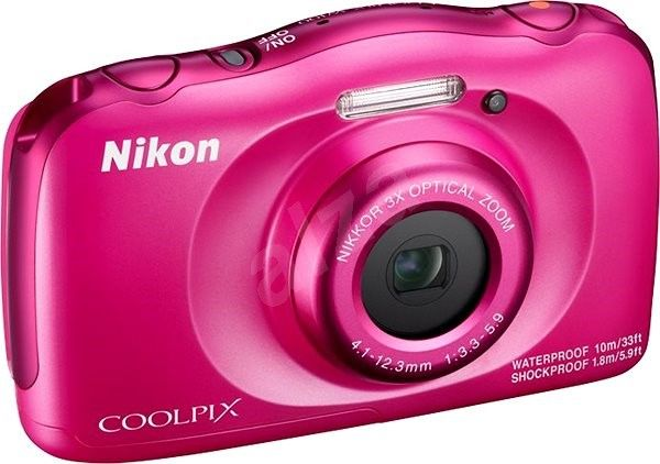 Digitalkamera NIKON Coolpix W 100 + Rucksack Kompaktkamera Pink