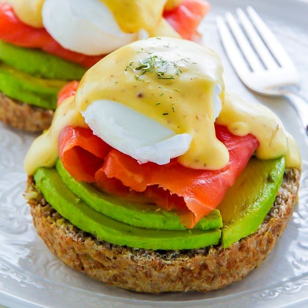 Smoked Salmon and Avocado Eggs Benedict #recipe via Baker by Nature http://www.yummly.com/recipe/Smoked-Salmon-and-Avocado-Eggs-Benedict-1588769