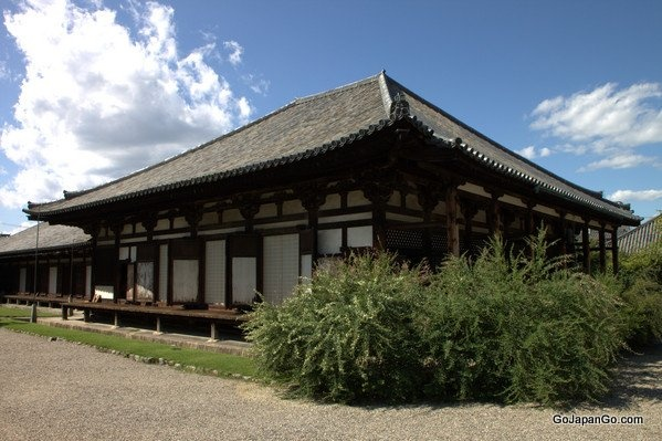 Gangoji Temple established in 588AD is a World Heritage Site in Nara Japan.
