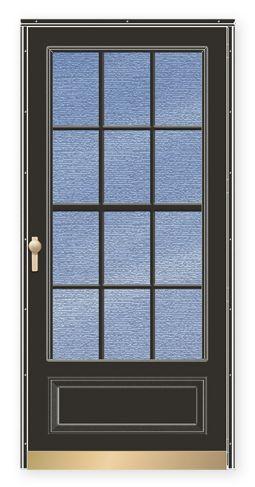 Andersen - Storm Doors - Traditional Deluxe Dual Vent ¾ Lite Colonial Storm Door