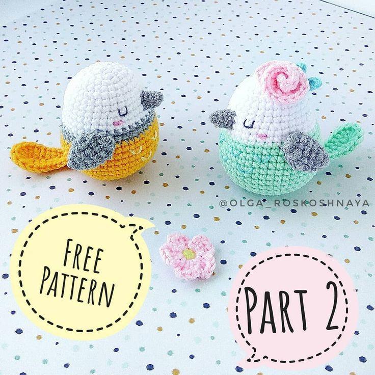Amigurumi bird free pattern #amigurumi #amigurumipattern #crochetbird #amigurumi… – Jessyca Bédard
