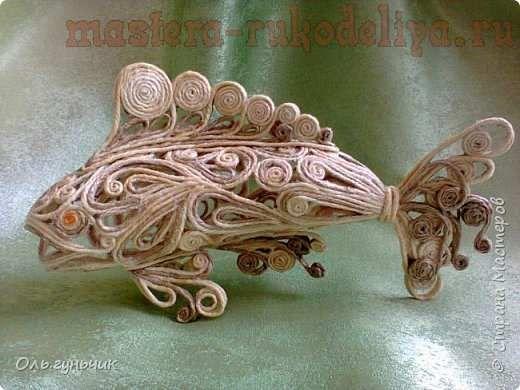 Мастер-класс по филиграни из джута: Рыбка