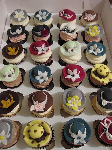 Hat Party Cupcakes by sugar*baking, via Flickr