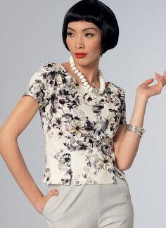 Vintage Vogue 1960s top V9187 | Vogue Patterns