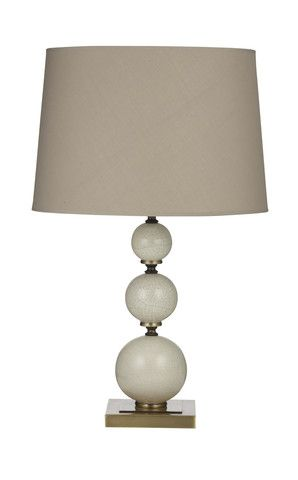 Marble Look Table Lamp - Latte Shade