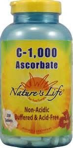 Nature's Life C-1000 Ascorbate 250 Tablets! Discount Vitamins and Supplements!