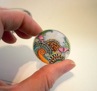 Shrinky Dinks tutorial for your zentangle doodles! This is an idea so