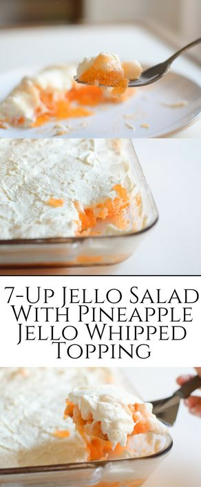 7-Up Salad is fizzy and DELICIOUS! It is topped wi…Edit description