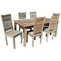 Appalachian Rustic Old Wood Table & Shutter Back Chairs