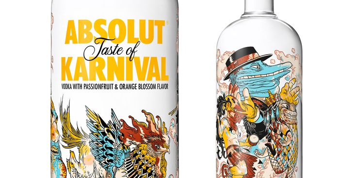 Bought this & love it!  Absolut Karnival 2014. BY Brazilian graphic novel artist and writer Rafael Grampá inspired by Latin America's 'carnival' festivities. The limited edition bottle