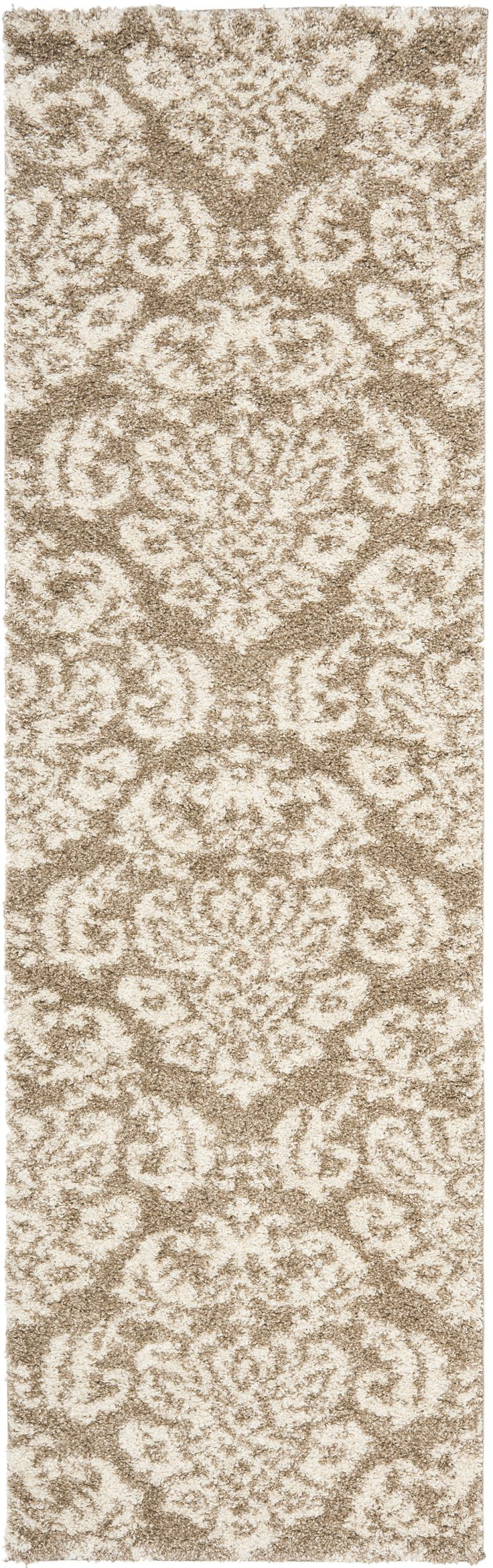 Florida Shag Rug (SG460), Grey/Beige;Beige/Cream;Dark Brown/Smoke;Smoke/Beige