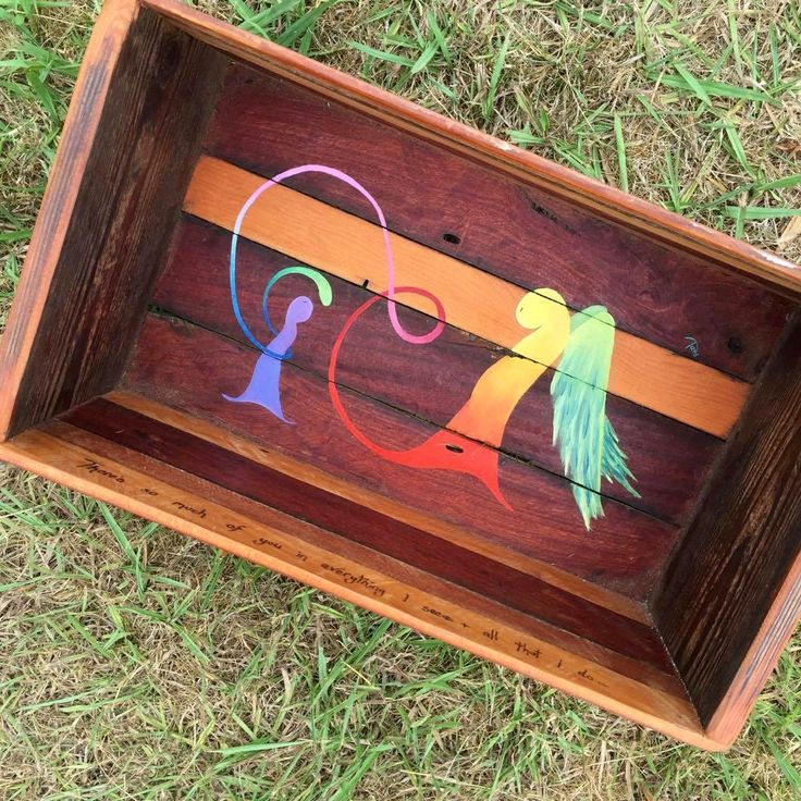 Pyrography Text: There's so much of you in everything I see & all that I do…  Original Soul Stories Oil on upcycled Jarrah timber box/shelf  Outside of shelf/box: Length 47cm x Height 26cm x Depth 20cm $400 aud  *Pickup or drop off only ~ contact tams to arrange payment