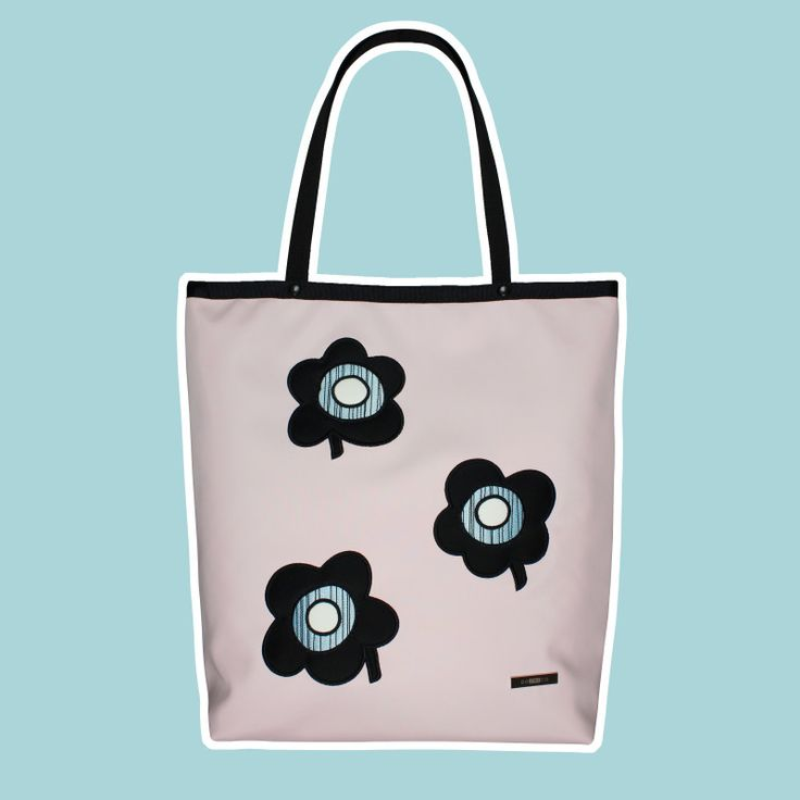 GOSHICO, ss2015, Shopper bag, pastel pink + pop art flowers. To download high or low resolution photos view Mondrianista.com (editorial use only).