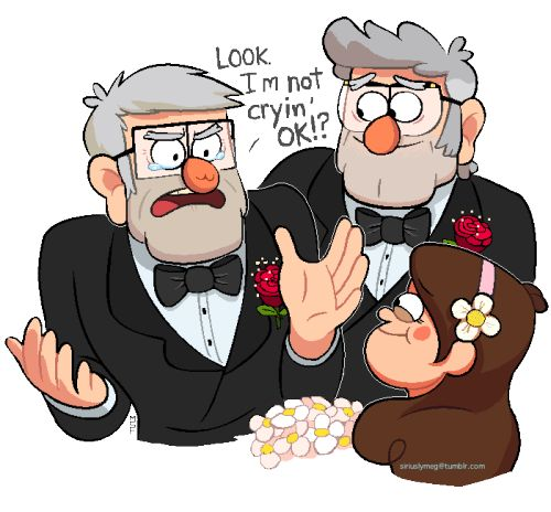 Stan NOT crying at Soos' and Melody's future wedding. :3 Finished this up in the…