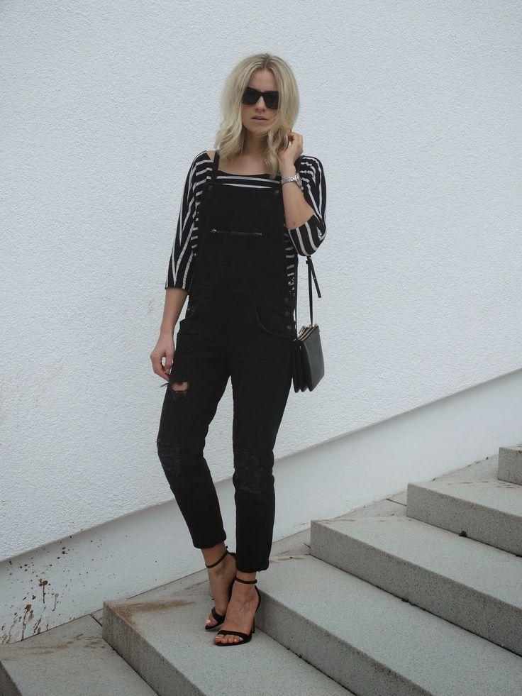 Goldencherry - Fashionblog Hannover: Black Dungarees
