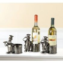 Wijnfleshouder/ bierfleshouder koks