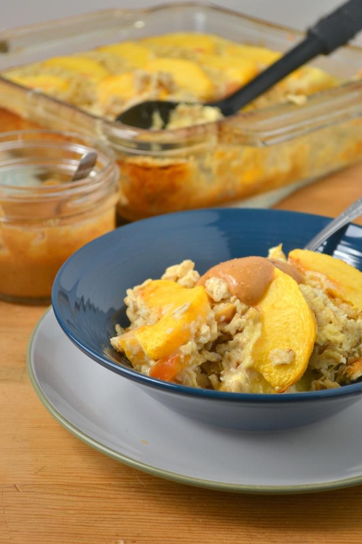 coconut peach baked oatmeal