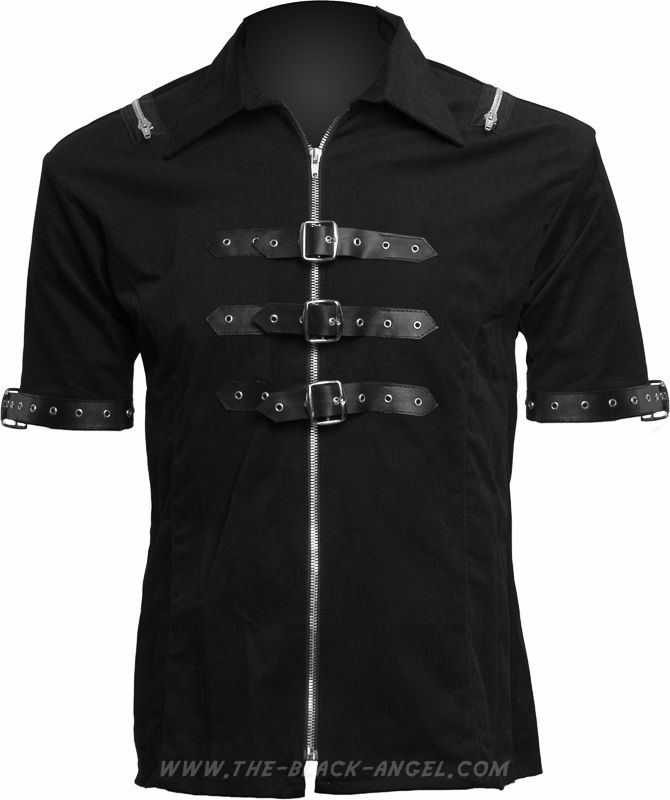 Gothic shirt with straps, from the Black Pistol clothing collection by Aderlass.
