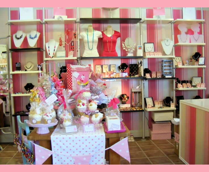 Shabby Chic Pink Jewelry Jewellery Displays In Our Shop Boutique