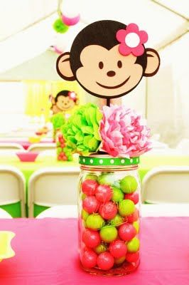 Monkey Centerpiece for Birthday Party