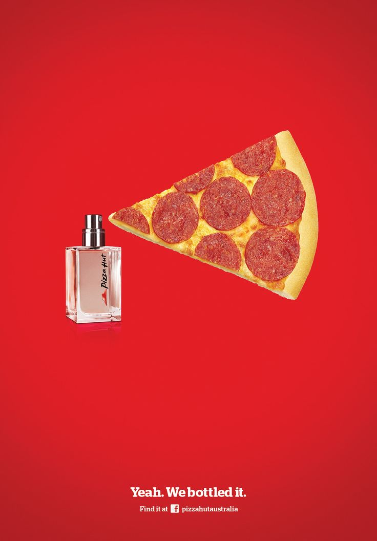 Pizza Hut - Eau de Pizza Hut | #adv #marketing #creative #werbung #ads #print #poster #advertising