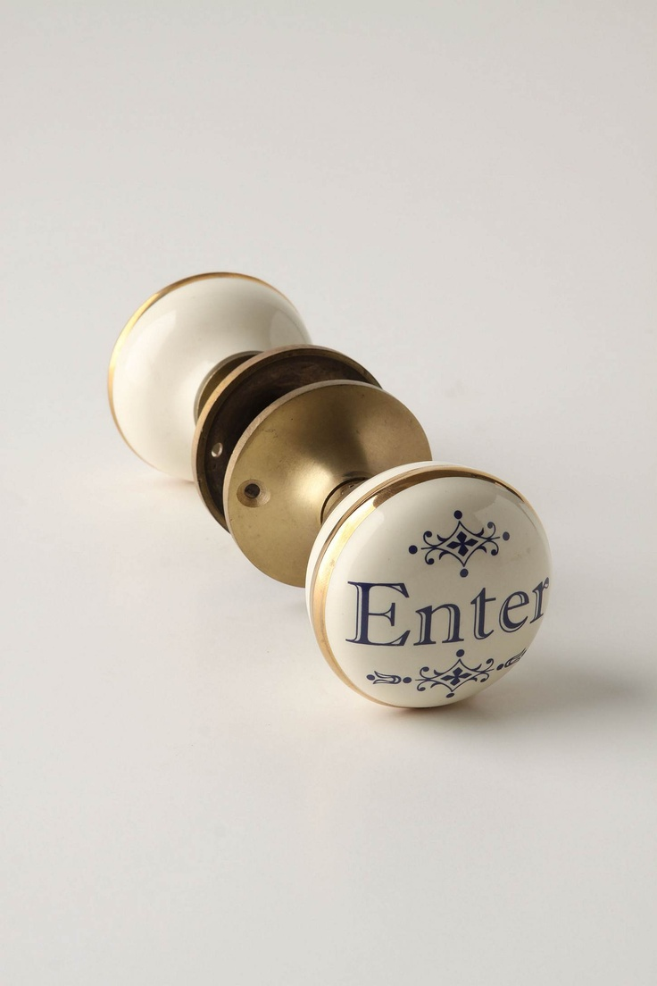 CUTE ENTER AND EXIT DOOR KNOBS!