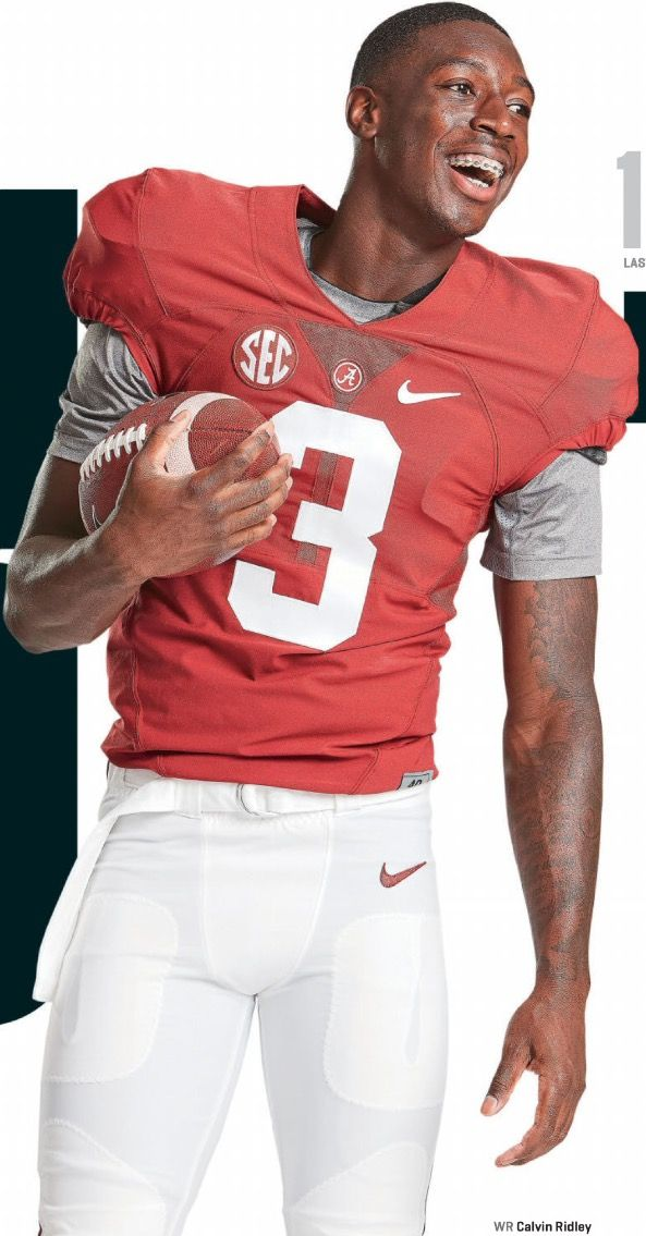 Calvin Ridley, Alabama WR extraordinaire. ESPN the magazine has Alabama as the…