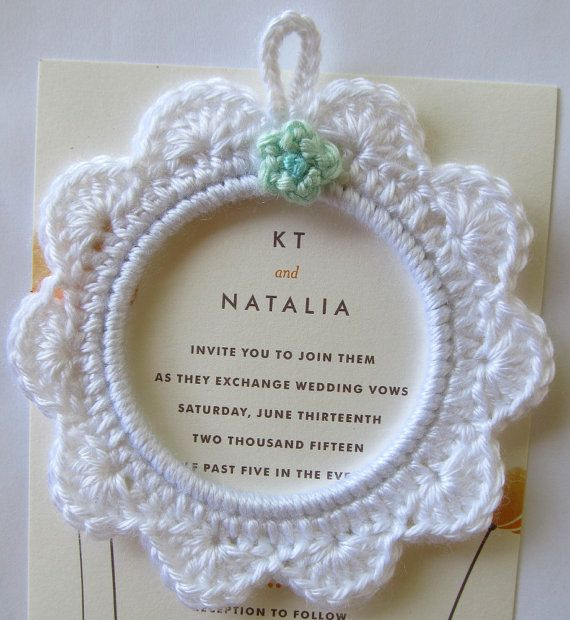 Crochet Wedding Picture Frame in gift bag for Mother of the Bride, Mother of the Groom or Bridesmaid - perfect for wedding memento keepsake