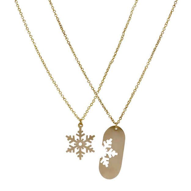 Matching Snowflake Necklaces, $78 | 24 Matching Jewelry Pieces For You And The One You Love