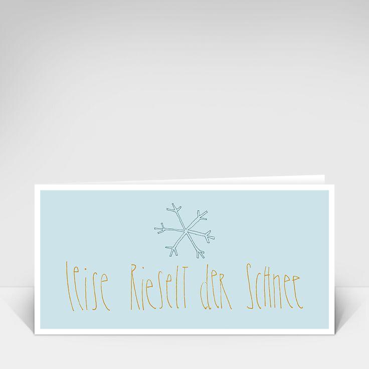 Leise rieselt der Schnee - Weihnachtskarte von Schriftstück