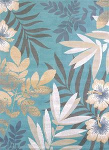 Delectably-Yours.com Modern Textures Blue Sea Garden Tropical Rug Collection by United Weavers