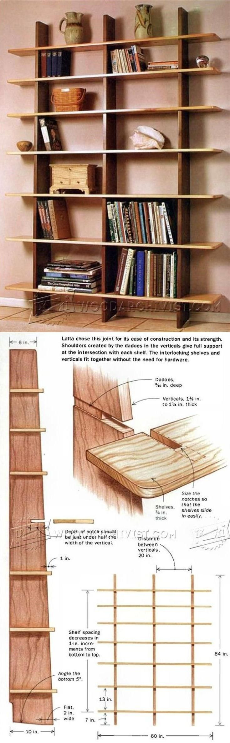 Teds Wood Working - Bookshelves Plans - Furniture Plans and Projects | WoodArchivist.com - Get A Lifetime Of Project Ideas & Inspiration!