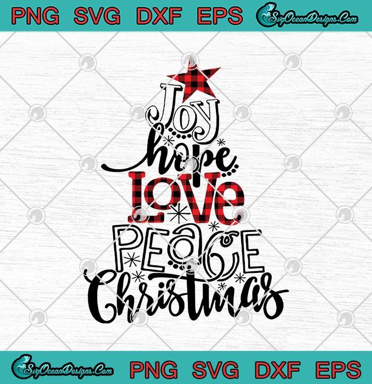 Download Joy Hope Love Peace Christmas Buffalo Plaid Christmas Tree ...