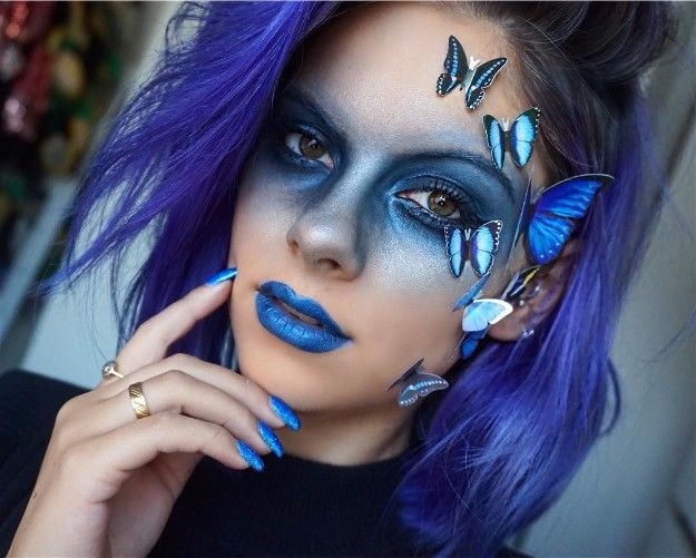 Blue Butterfly | Cutest Snapchat Filter Makeup Tutorials You Should Definitely Try
