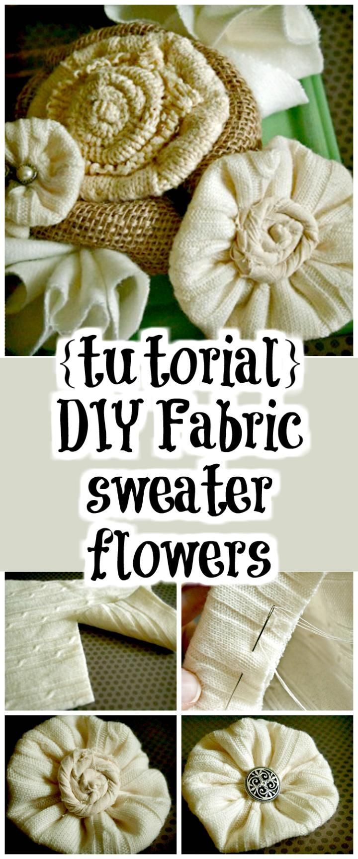 25+ best ideas about Easy fabric flowers on Pinterest ...